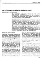 Die Investitionen der österreichischen Industrie - Wifo