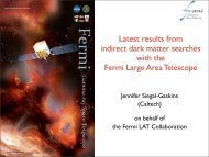 Latest results from indirect dark matter searches with the Fermi ...