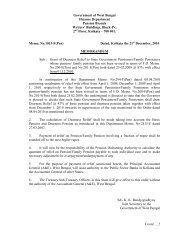 Government of West Bengal Finance Department Pension Branch ...