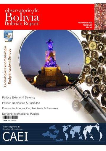 Observatorio de Bolivia N°27 - CAEI