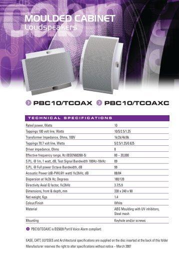pbc10/tcoaxc - Penton UK