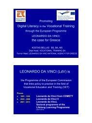 LEONARDO DA VINCI (LdV) is - Citie's E-Services for Inclusion