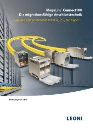 MegaLine® Connect100 - Die migrationsfähige ... - Leoni