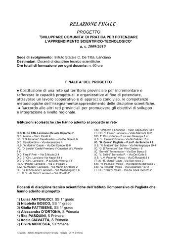 RELAZIONE FINALE - Portale Sangro Aventino