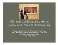 Chinese Contemporary Art as Social and Political Commentary