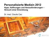 Personalisierte Medizin 2012 - Health Insurance Days
