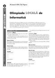 roblem Olimpiada LOCALĂ de Informatică - GInfo