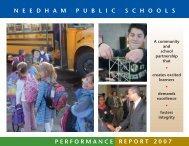 Performance Report 07 - Needham Public Schools