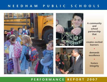 Performance Report 07 - Needham Public Schools