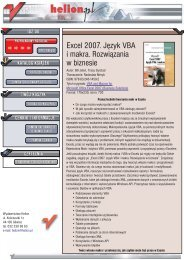 Excel 2007. Język VBA i makra. Rozwiązania w biznesie - Structum