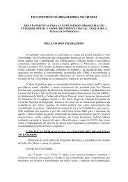 Relato Mesa B - Brasileiros no Mundo - Ministério das Relações ...