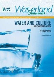 Die Wasserzeitschrift der Steiermark 1/2006 - Wasserland Steiermark