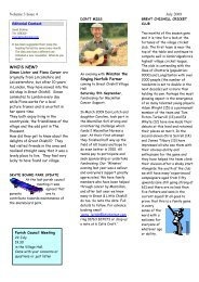Volume 3 Issue 4 July 2009 WHO'S NEW? - Great Chishill