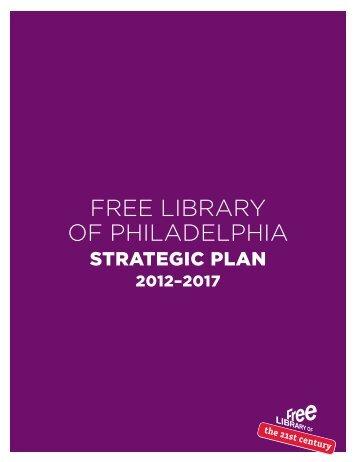 Strategic Plan - Free Library of Philadelphia