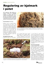 Regulering av kjølmark i potet - Fagbladet Økologisk Landbruk