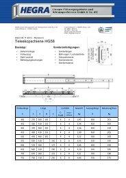 opschiene HG58 - Hegra Linear