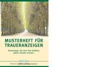 Musterheft für Traueranzeigen - Bad Sodener Zeitung