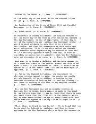 SUNDAY IN The GREEK p. 1, Para. 1, [SUNGREEK]. - The Eternal ...