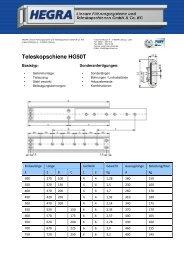 Teleskopschiene HG50T - Hegra Linear