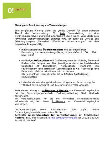 Gefährdungsanalyse bei Sportveranstaltungen - Stadtsportverband