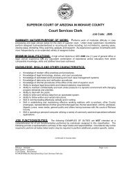 Clerk of the Superior Court Brochure - Cochise County Government