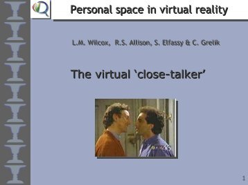 Personal space in virtual reality