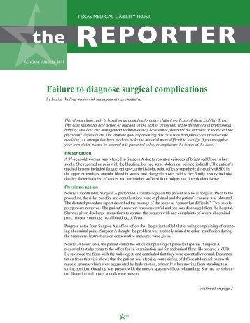 General Surgery Reporter 2011 - TMLT