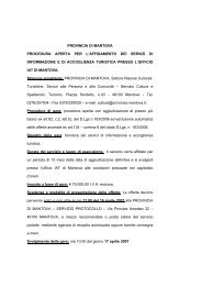 provincia di mantova procedura aperta per l'affidamento dei servizi ...