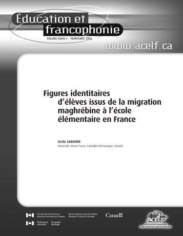 Figures identitaires d'élèves issus de la migration ... - acelf
