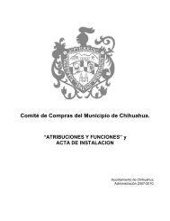 Comité de Compras del Municipio de Chihuahua. - Transparencia ...