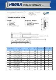 Teleskopschiene HG80 - Hegra Linear