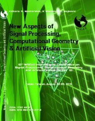 NEW ASPECTS of SIGNAL PROCESSING ... - Wseas.us