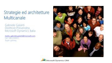 Strategie ed architetture Multicanale - MailUp