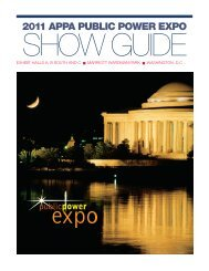 2011 Show Guide - American Public Power Association