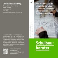 Infoflyer 2013 - Pädagogische Architektur