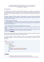 la programmazione orientata agli oggetti - itis magistri cumacini