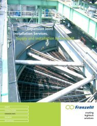 Expansion Joint Installation Services. Supply and ... - Frenzelit
