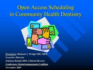 ENHC Dental Pilot Site for Advanced Scheduling by Richard A ...