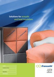 Solutions for acoustic and heat insulation. - Frenzelit Werke GmbH