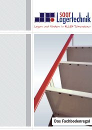 Das Fachbodenregal - Saar Lagertechnik GmbH