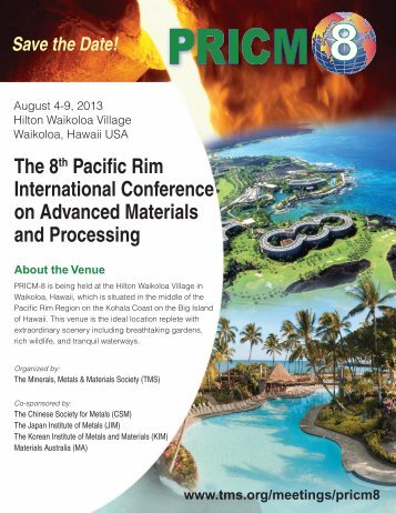 The 8th Pacific Rim International Conference on Advanced Materials ...