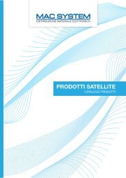 MAC SYSTEM PRODOTTI SATELLITE - Mac System S.a.s.