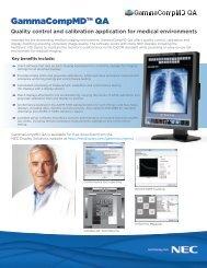 GammaCompMD QA Spec Sheet - NEC Display Solutions