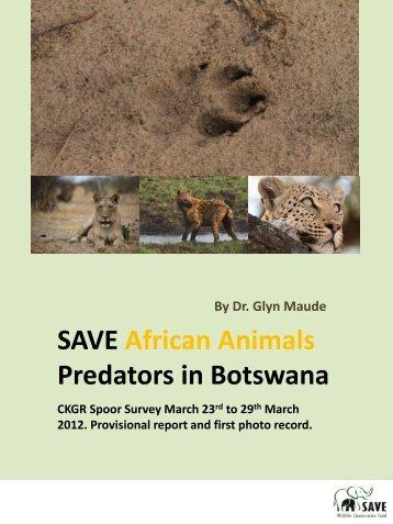 here - SAVE Wildlife Conservation Fund