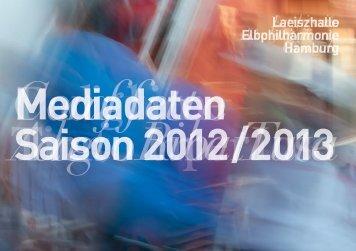 Jahresbuch Elbphilharmonie Konzerte Mediadaten Saison 2012/2013