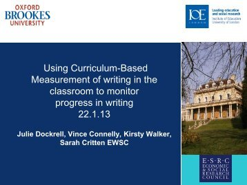 Using Curriculum-Based Measurement of writing in the classroom to ...