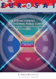 THE STRENGTHENING OF EXTERNAL PUBLIC CONTROL: - Eurosai