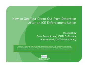 How to Get Your Client Out from Detention After an ICE ... - asista
