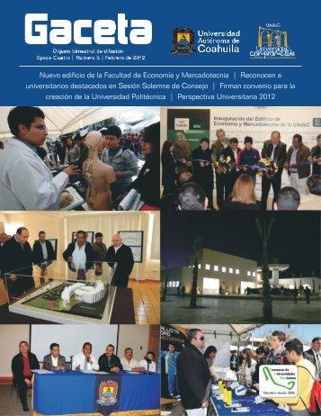 NUEVA GACETA - Universidad Autónoma de Coahuila