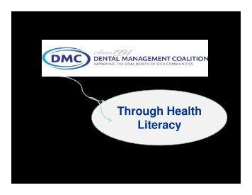 Through Health Literacy - Dmcnet.org